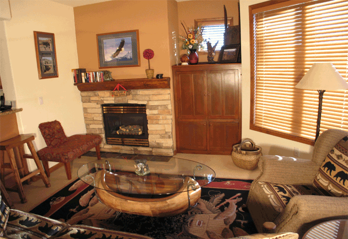 Eagle Run, Mammoth Lakes, Living Room with Picture Windows