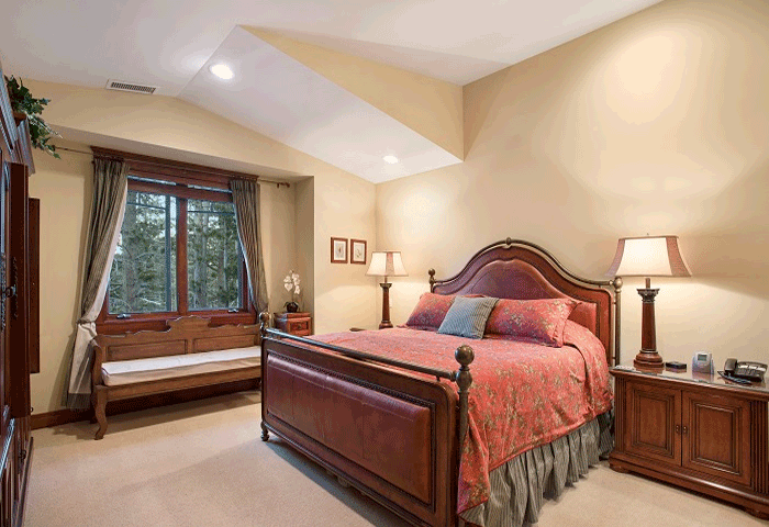 Master Bedroom with large bay windows